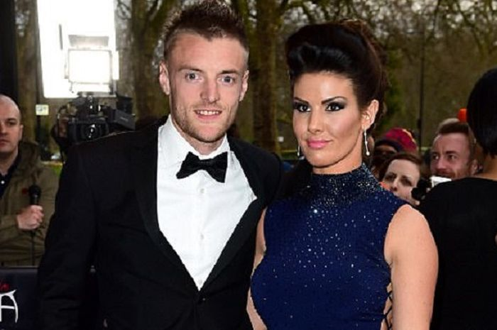 Jamy Vardy dan Rebekah Vardy menghadiri acara The Asian Award