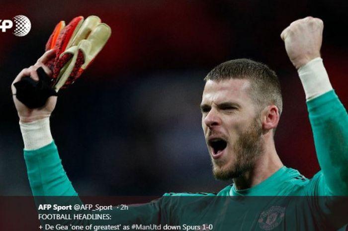 Kiper Manchester United David de Gea  dkk kini mengincar kemenangan keenam di Liga Inggris secara beruntun.