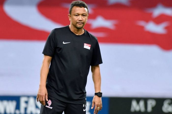 Pelatih Timnas U-22 Singapura. Fandi Ahmad.