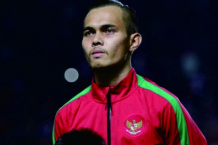 Pemain timnas Indonesia dan bek Persija Jakarta, Rezaldi Hehanusa.