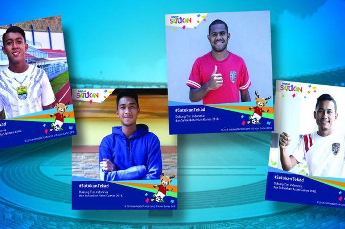 Indofood menggandeng beberapa pesepak bola nasional ternama untuk ikut menggaungkan dukungan terhadap Asian Games 2018.