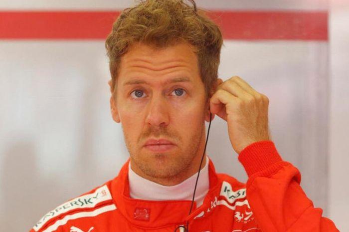 Pebalap Ferrari, Sebastian Vettel.