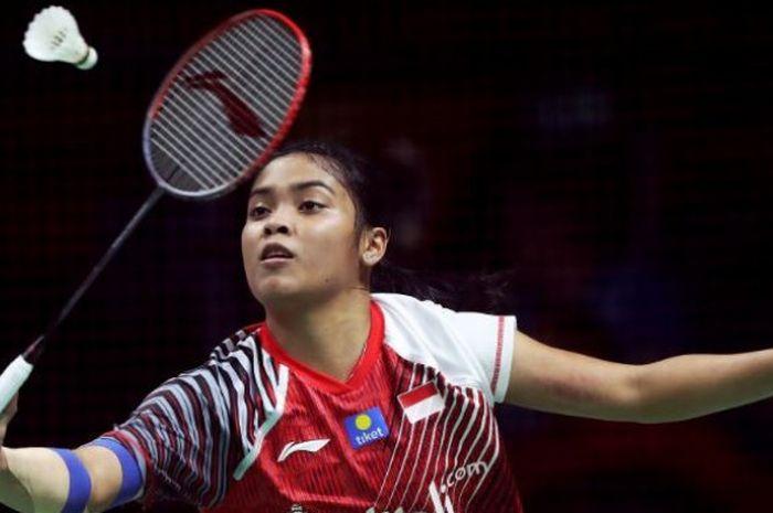 Penampilan tunggal putri Indonesia, Gregoria Mariska Tunjung, di babak perempat final Thailand Open 2018.