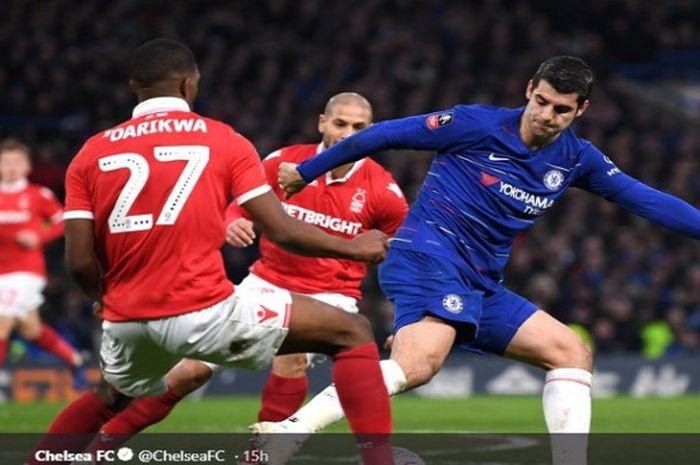 Striker Chelsea, Alvaro Morata, kini ikut diminati oleh Atletico Madrid.