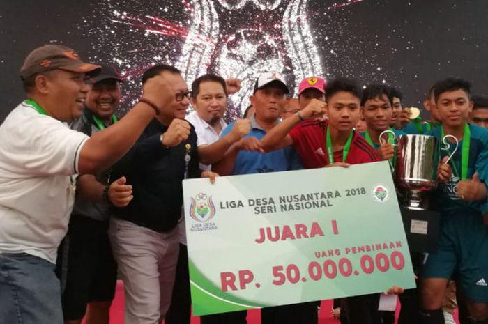 Desa Rappang dari Kabupaten Sidrap, Sulawesi Selatan, menjuarai Liga Desa Nusantara 2018.