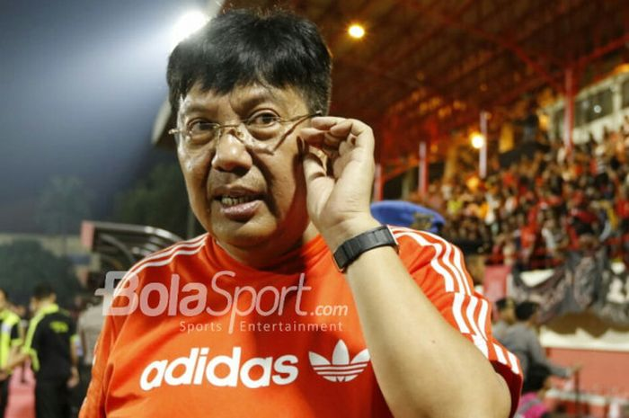 Direktur Utama Persija Jakarta, Gede Widiade di Stadion PTIK, Jakarta, Sabtu (30/6/2018).