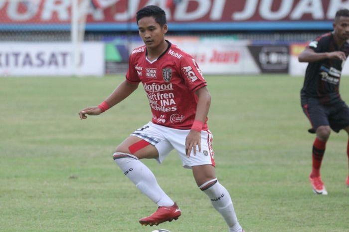 Gelandang muda Bali United, I Kadek Agung Widnyana.
