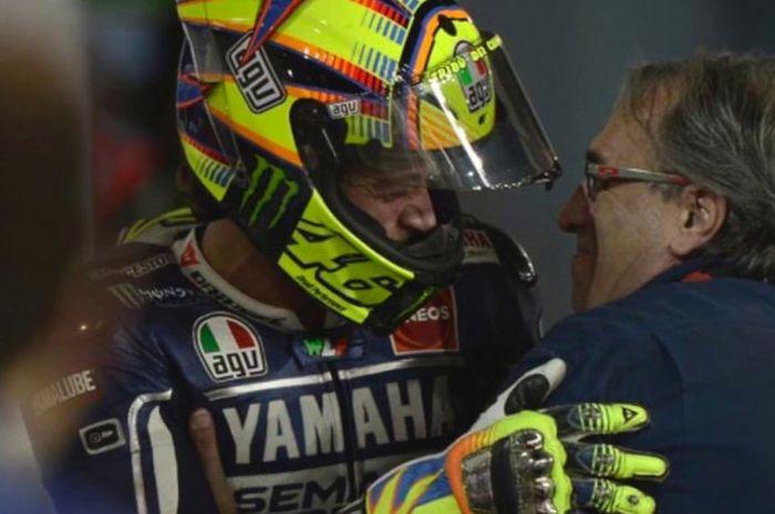 Valentino Rossi dan mantan manajer timnya, Carlo Pernat.