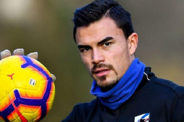 Kiper keturunan Indonesia yang bermain untuk Sampdoria, Emil Audero Mulyadi.