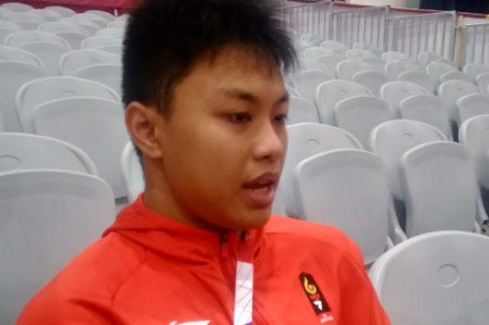 Lifter muda Indonesia yang mengikuti ajang Asian Games 2018, Rahmat Erwin Abdullah.