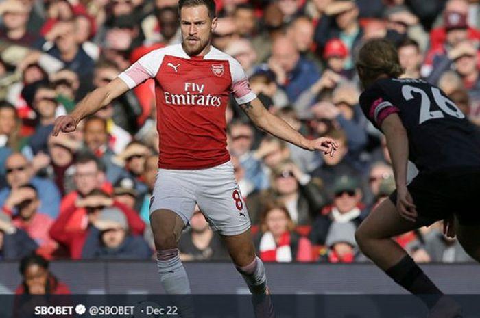 Gelandang Arsenal, Aaron Ramsey.