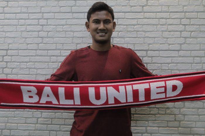 Pemain bertahan Bali United, Haudi Abdillah.