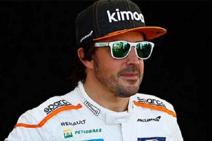 Pebalap tim McLaren-Renault asal Spanyol, Fernando Alonso.