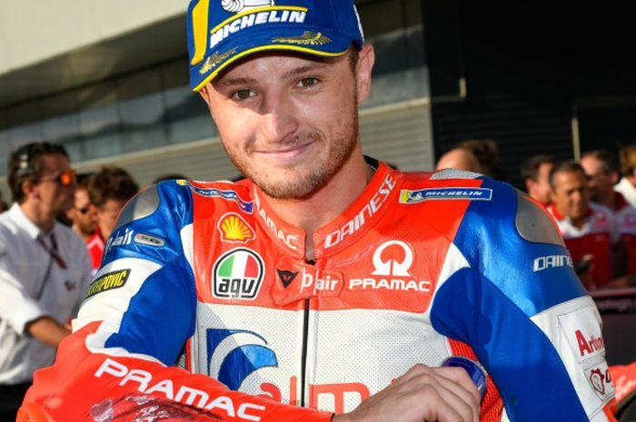 Pebalap Pramac Racing, Jack Miller, usai sesi kualifikasi MotoGP Jepang di Twin Ring Motegi, Jepang.