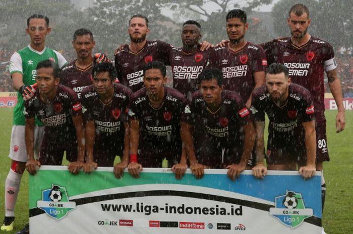 Skuat PSM Makassar saat laga menjamu Persija Jakarta pada pekan ke-31 Liga 1 2018 di Stadion Mattoanging, Jumat (16/11/2018).