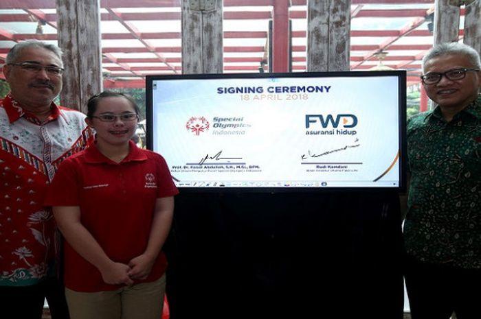 Kerjasama Special Olympics Indonesia dengan FWD Life dalam pemeberdayaan penyandang disabilitas intelektual.