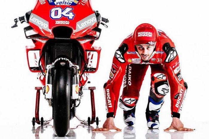 Pebalap Ducati, Andrea Dovizioso, siap bersaing untuk gelar juara dunia MotoGP 2019 dengan Marc Mar