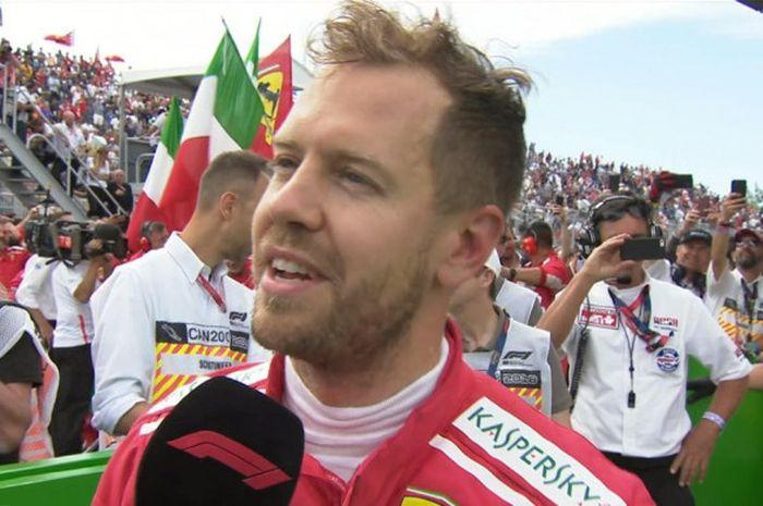 Sebastian Vettel berhasil memenangi balapan GP Canada 2018.
