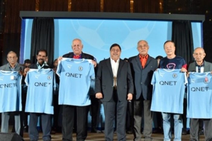Para petinggi klub anyar Liga Super Malaysia 2019, PJ City FC saat memperkenalkan klub itu.