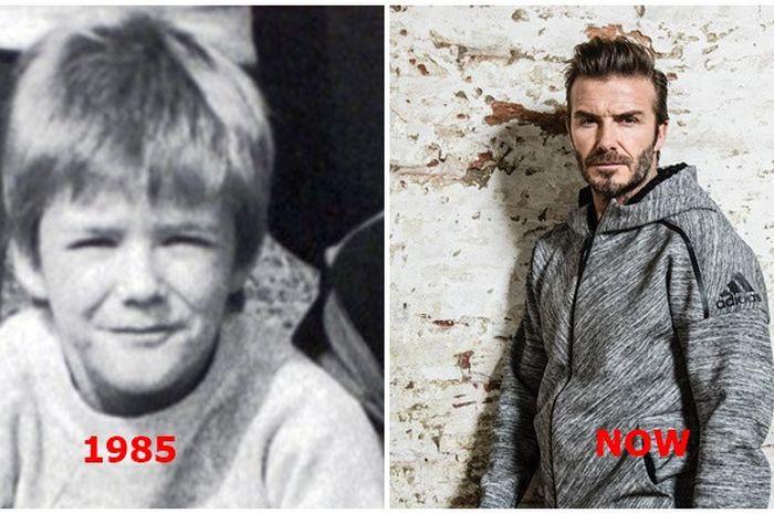 Transformasi wajah David Beckham