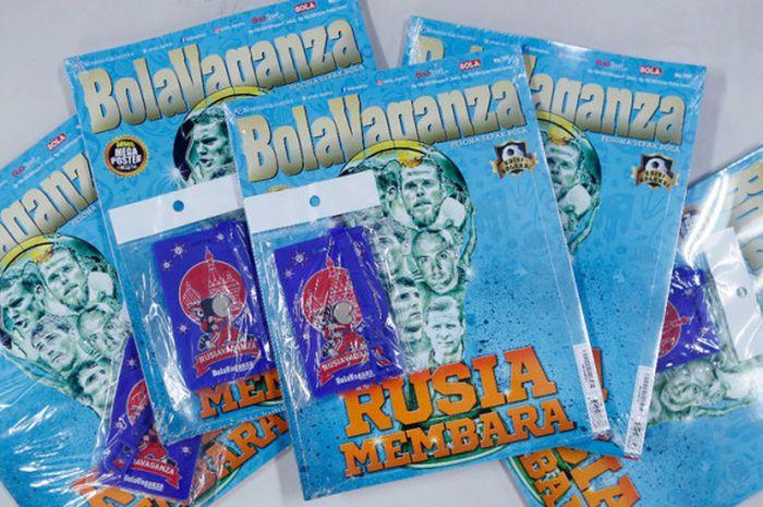 Cover edisi terbaru Majalah BolaVaganza yang menyoroti peran kiper selama Piala Dunia.