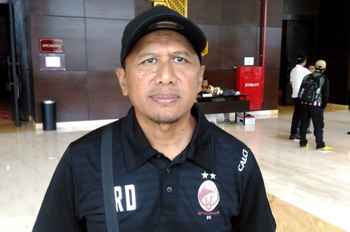 Pelatih Sriwijaya FC, Rahmad Darmawan saat ditemui di Hotel Alana, Solo, Sabtu (3/2/2018)