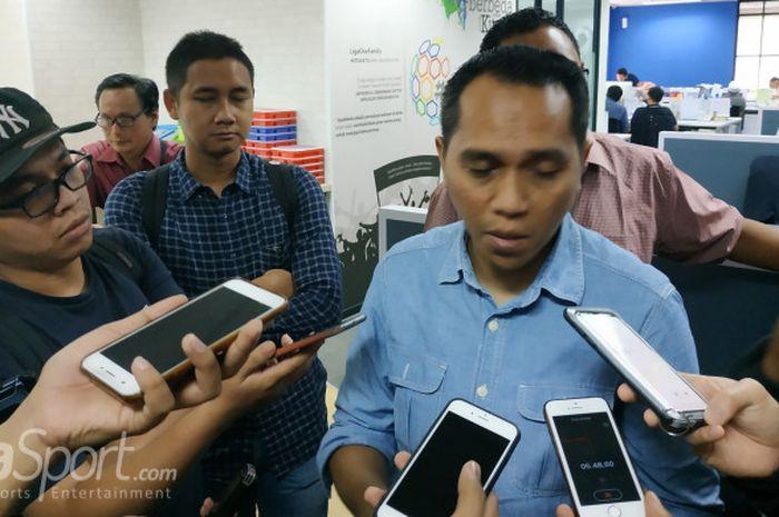 COO PT LIB, Tigor Shalomboboy di kantornya, Menara Mandiri, Jumat (4/1/2019).