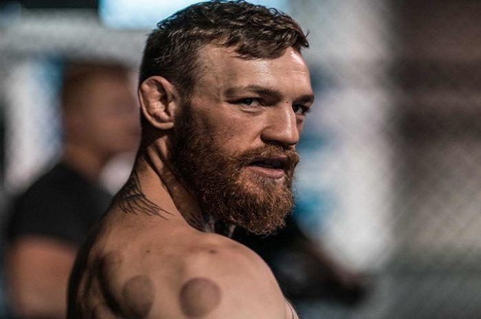 Conor McGregor saat menjalani salah satu sesi persiapan jelang comeback-nya ke arena UFC.