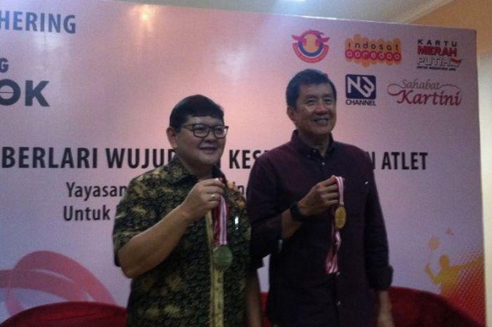 KEtua YOI, Rudy Hartono (Kanan) dan Ketua PORDASI,