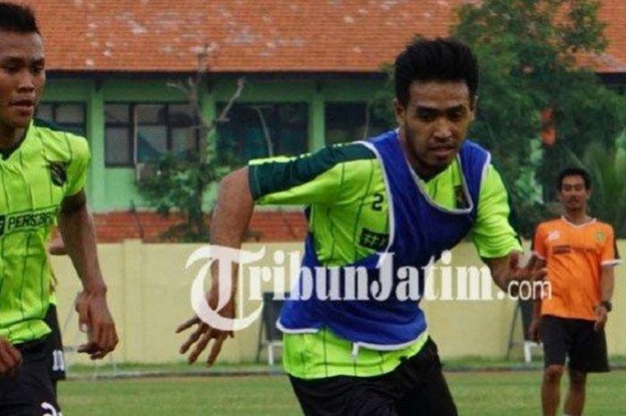 Mantan Bek Bali United, Novan Setya Sasongko, Terlihat dalam Sesi Latihan Perdana Persebaya Surabaya Menyongsong Musim 2019