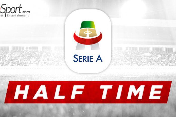 Ilustrasi babak pertama pertandingan Liga Italia.
