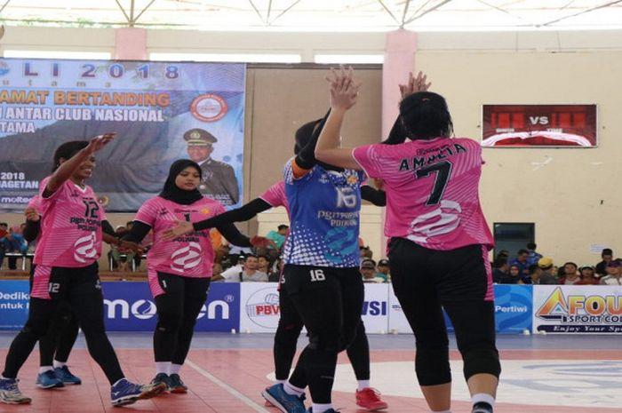 PGN Popsivo Polwan menempati peringkat ketiga pada PGN Livoli 2018 sektor putri.