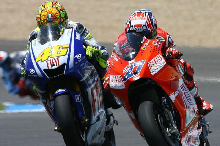 Valentino Rossi dan Casey Stoner.
