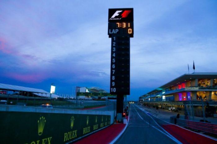 Salah satu sudut Circuit of the Americas, Austin, Texas, Amerika Serikat, menjelang gelaran Formula 1.