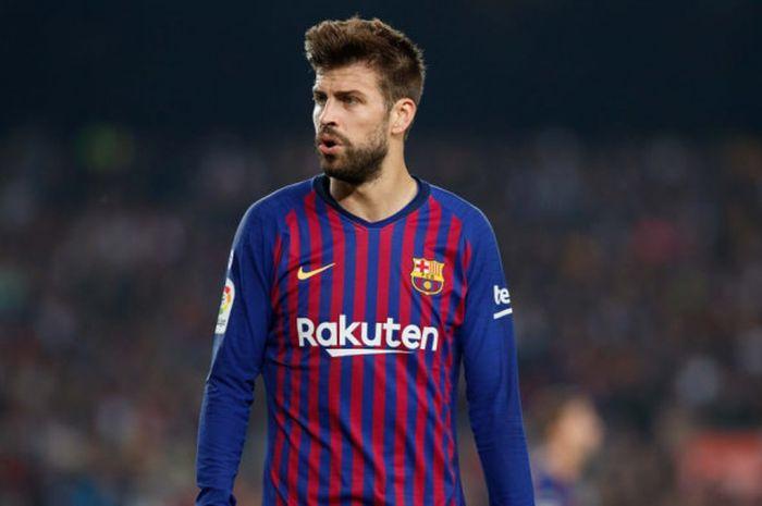 Bek Barcelona, Gerard Pique, siap menjadi andalan kala menghadapi Atletico Madrid