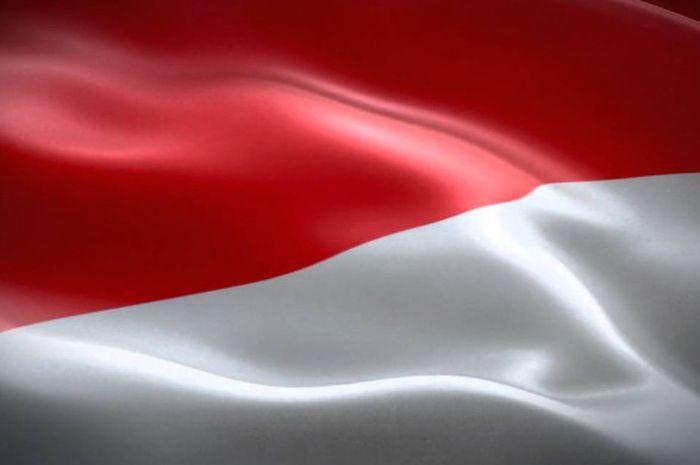 Ilustrasi bendera Indonesia.