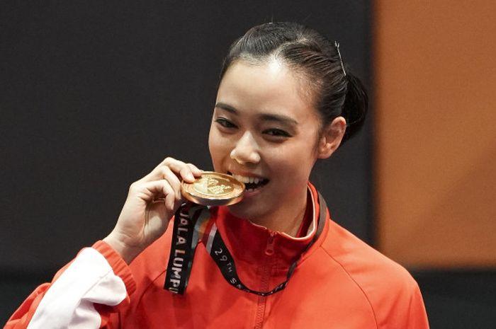 Lindswell Kwok, atlet Wushu Indonesia yang jadi unggulan di Asian Games 2018