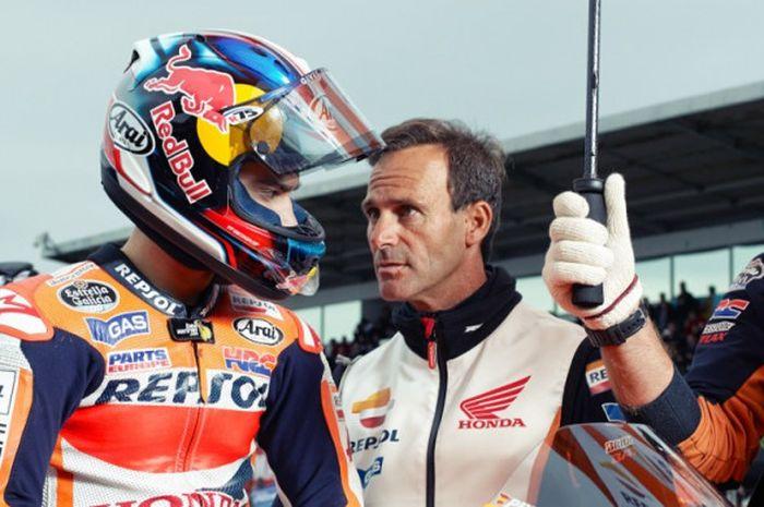 Dani Pedrosa dan Alberto Puig.