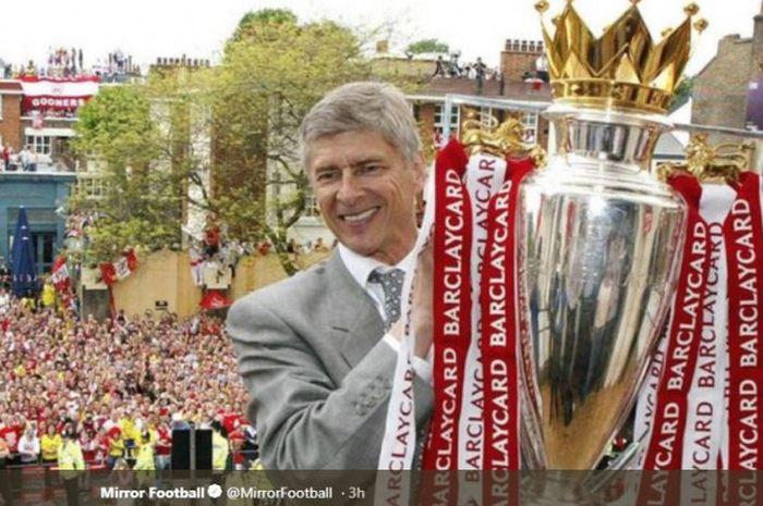Arsene Wenger saat membawa Arsenal menjuarai Liga Inggris 2003-2004.