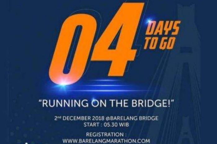 BP Batam Barelang Marathon 2018 akan digelar pada hari Minggu (2/12/2018).