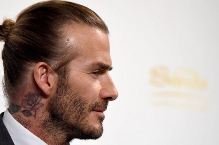 Mantan gelandang tim nasional Inggris, David Beckham, tampil di acara promo sebuah casino di Tok