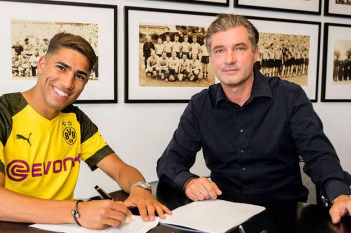 Achraf Hakimi resmi bergabung dengan Borussia Dortmund sebagai pemain pinjaman dari Real Madrid