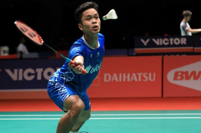 Pebulu tangkis tunggal putra nasional Indonesia, Anthony Sinisuka Ginting.