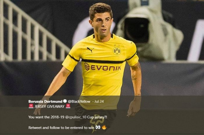 Penyerang sayap Borussia Dortmund, Christian Pulisic.
