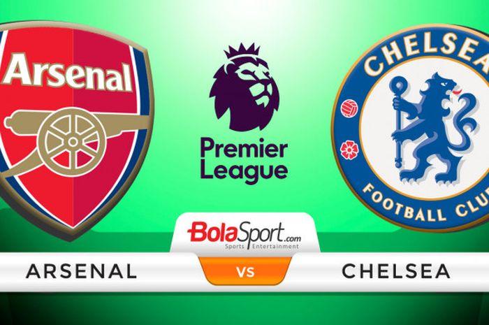 Ilustrasi Arsenal Vs Chelsea