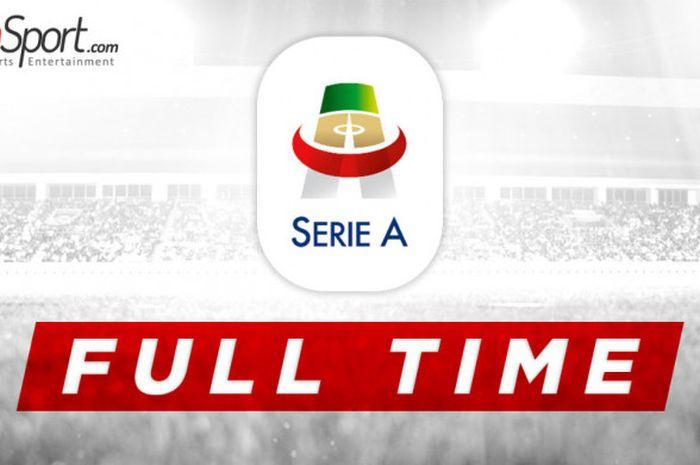 Ilustrasi hasil pertandingan Liga Italia.