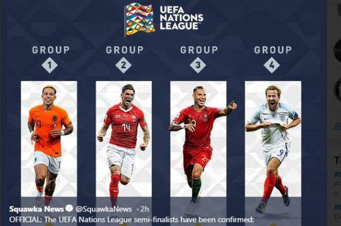 Para pemain mewakili negaranya yang lolos ke putaran final UEFA Nations League.