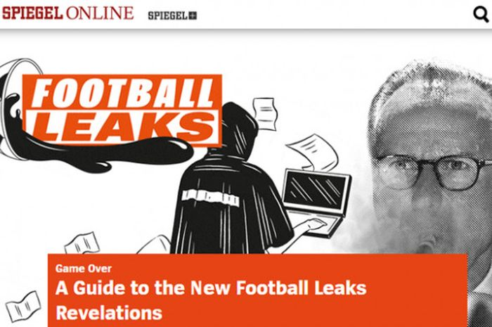 Headline Football Leaks di situs media asal Jerman, Spiegel.de.