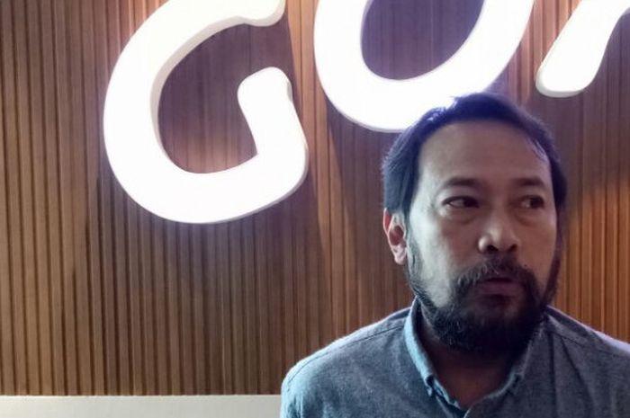 Ketua Panpel pertandingan Persib Bandung, Budi Bram Rachman, selepas menghadiri sidang Komdis PSSI d