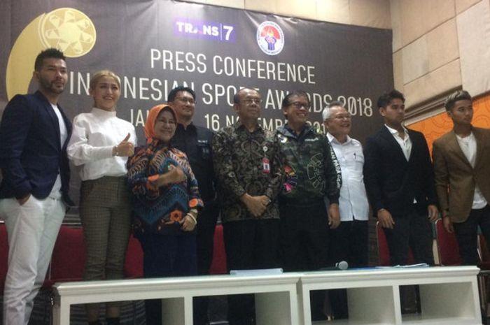 Konferensi Pers Indonesia Sport Award 2018.